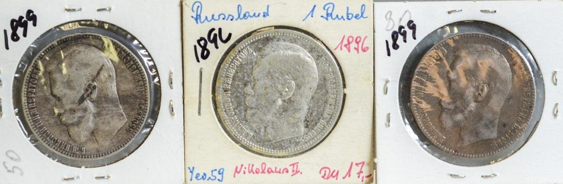 (3) Russian Roubles, 1896, 1899