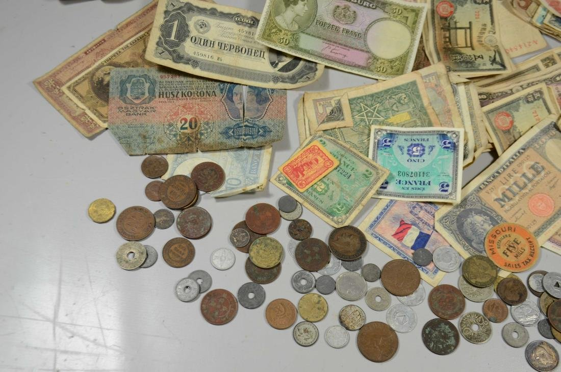 Paper bag lot WWII souvenir coins/currency - 5