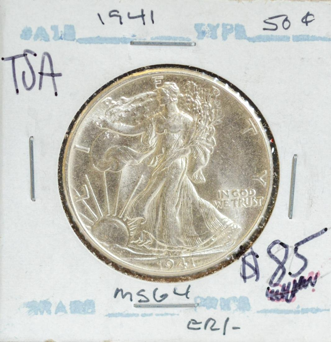 1941 Walking Liberty Half Dollar, UNC