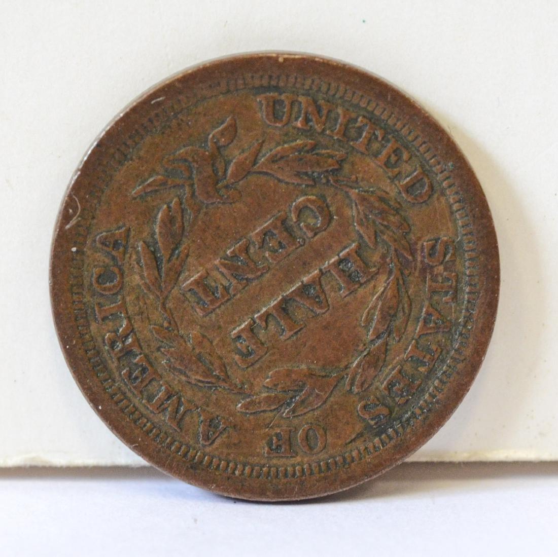 1857 Half cent VF - 2