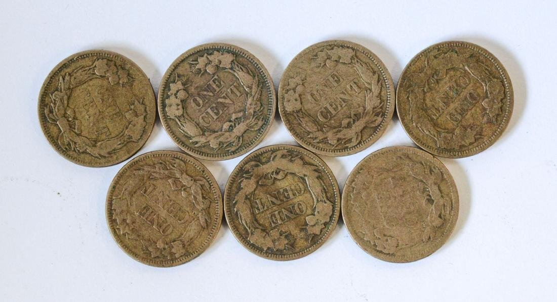 (7) Flying Eagle cents