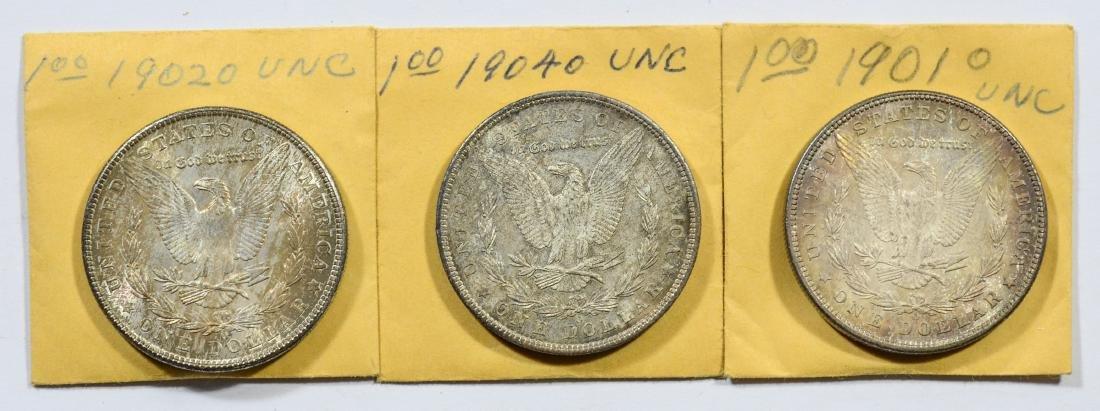 1901-O, 1902-O, 1904-O Morgan dollars, nice UNC - 2