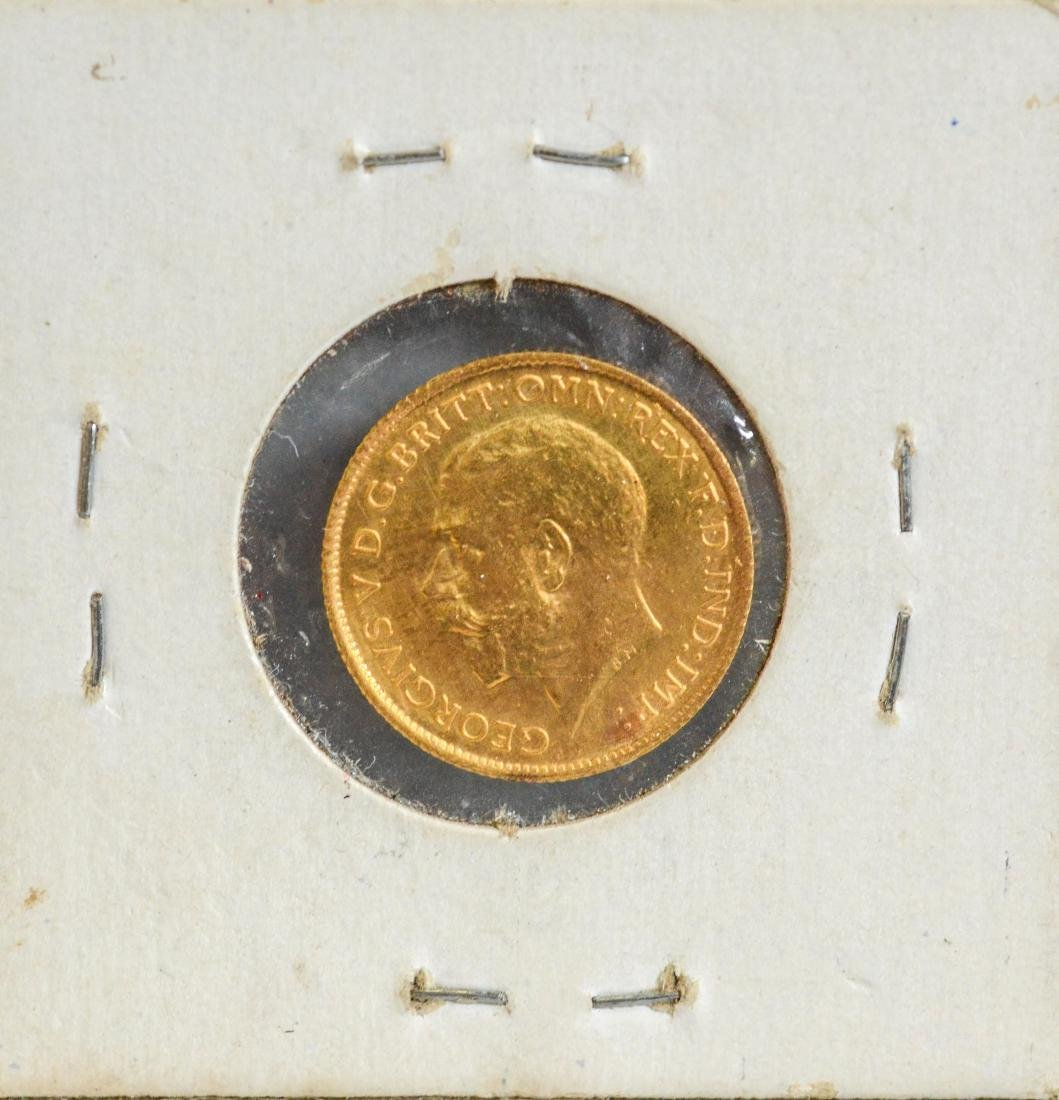 1914 British Half Sovereign gold coin, ,11775 TO AGW