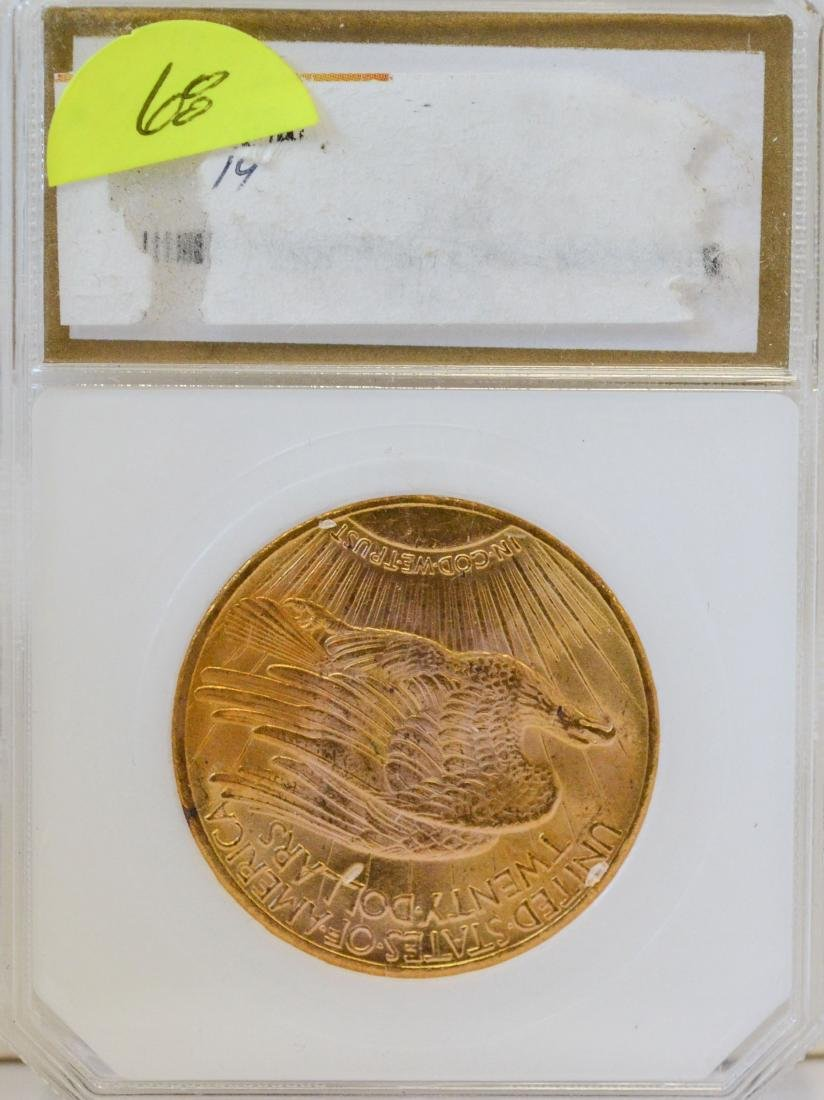 1925 $20 St, Gaudens gold coin, PCI MS-65 - 2