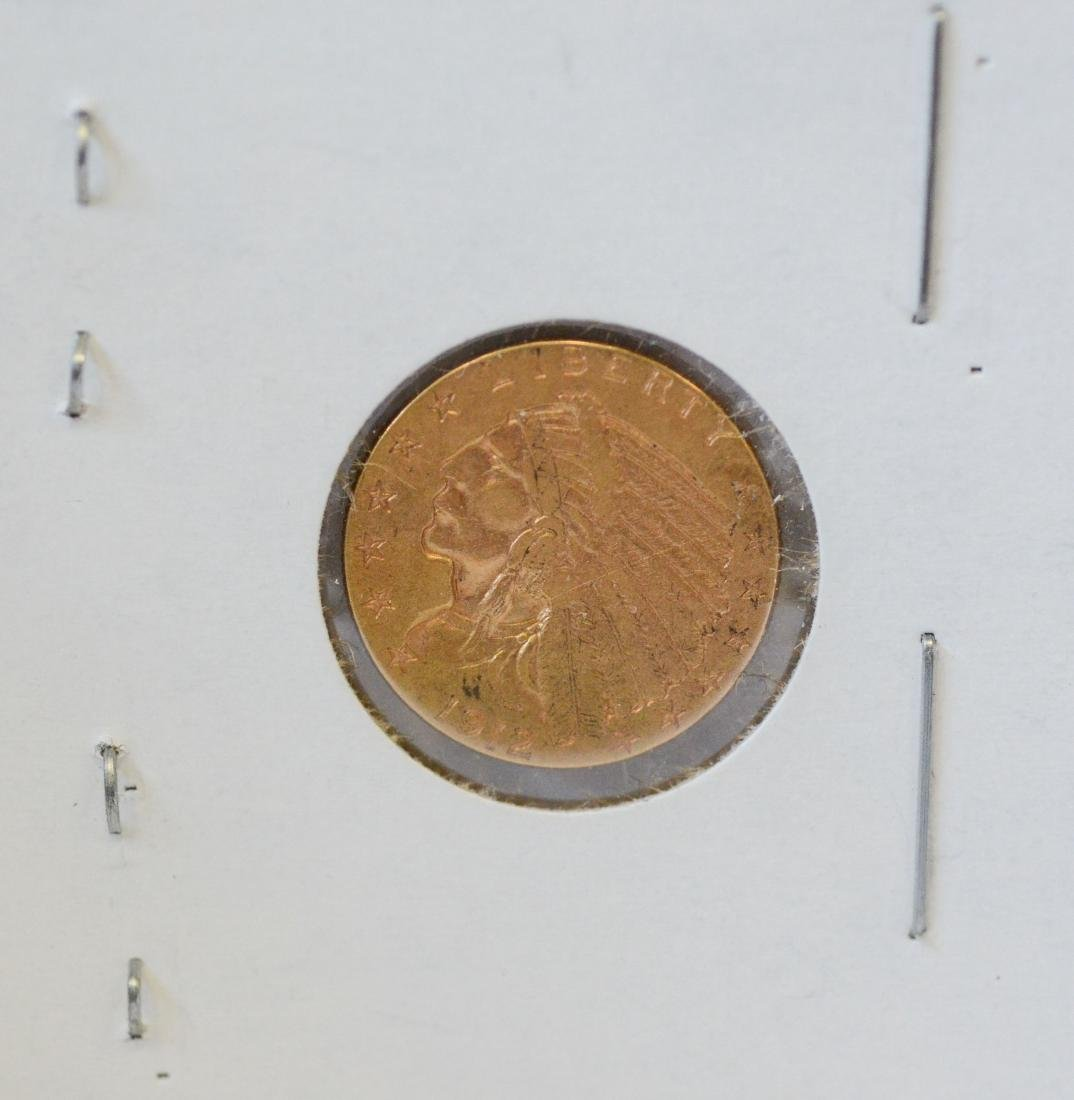 1912 - 2 1/2 dollar Indian gold coin