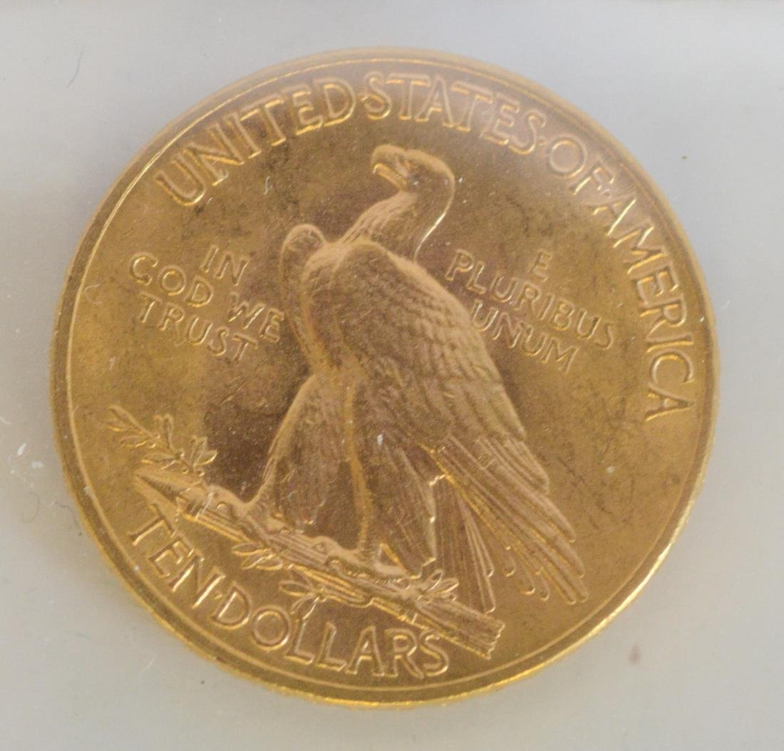 1914 Ten Dollar Indian UNC gold coin - 2