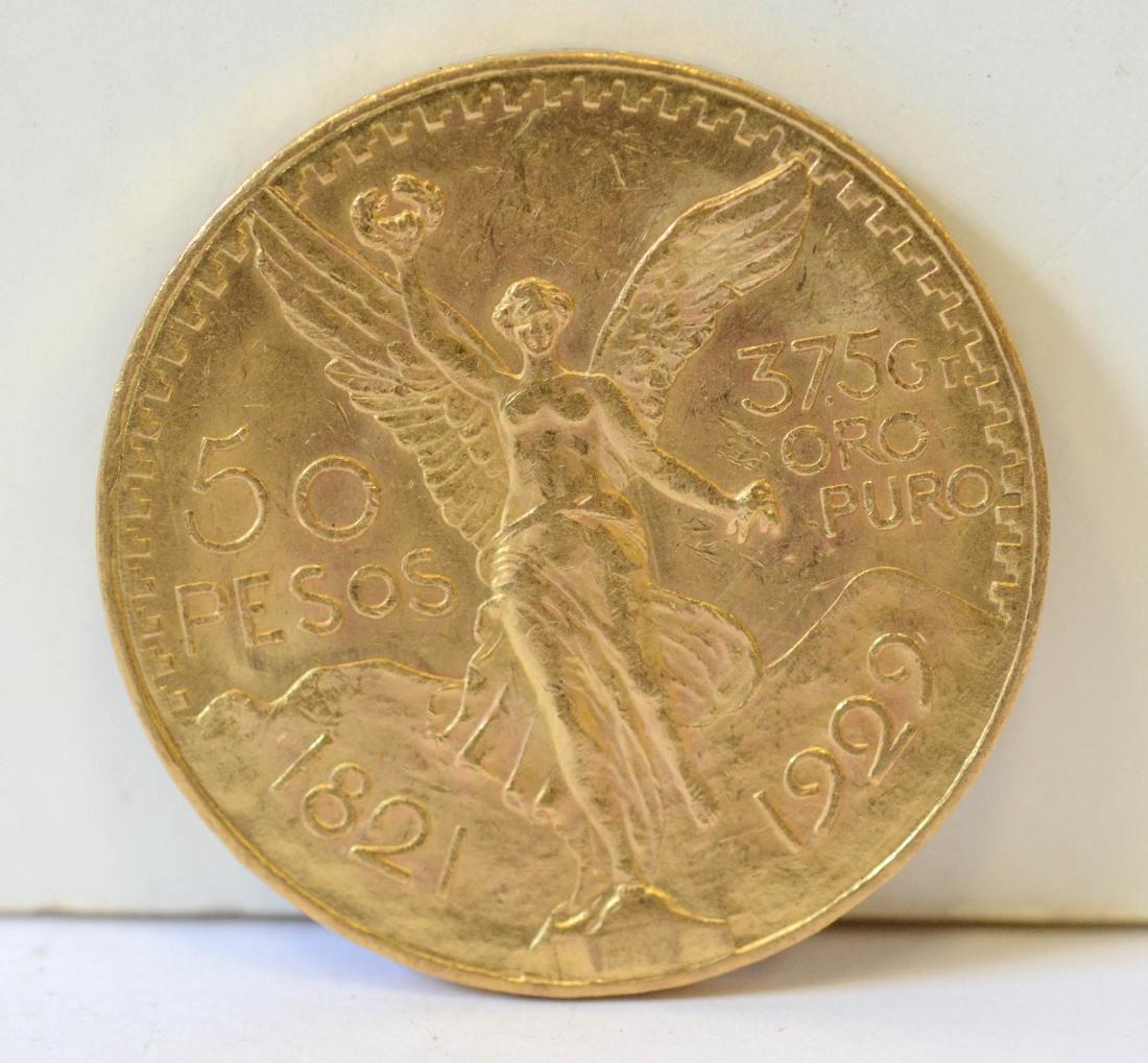 Mexican 50 peso coin