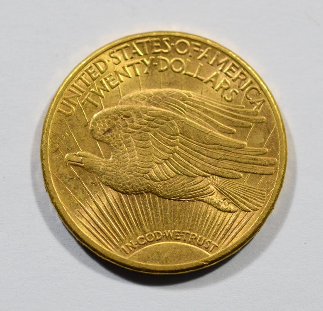 1911S $20 St Gaudens gold coin, EF - 2