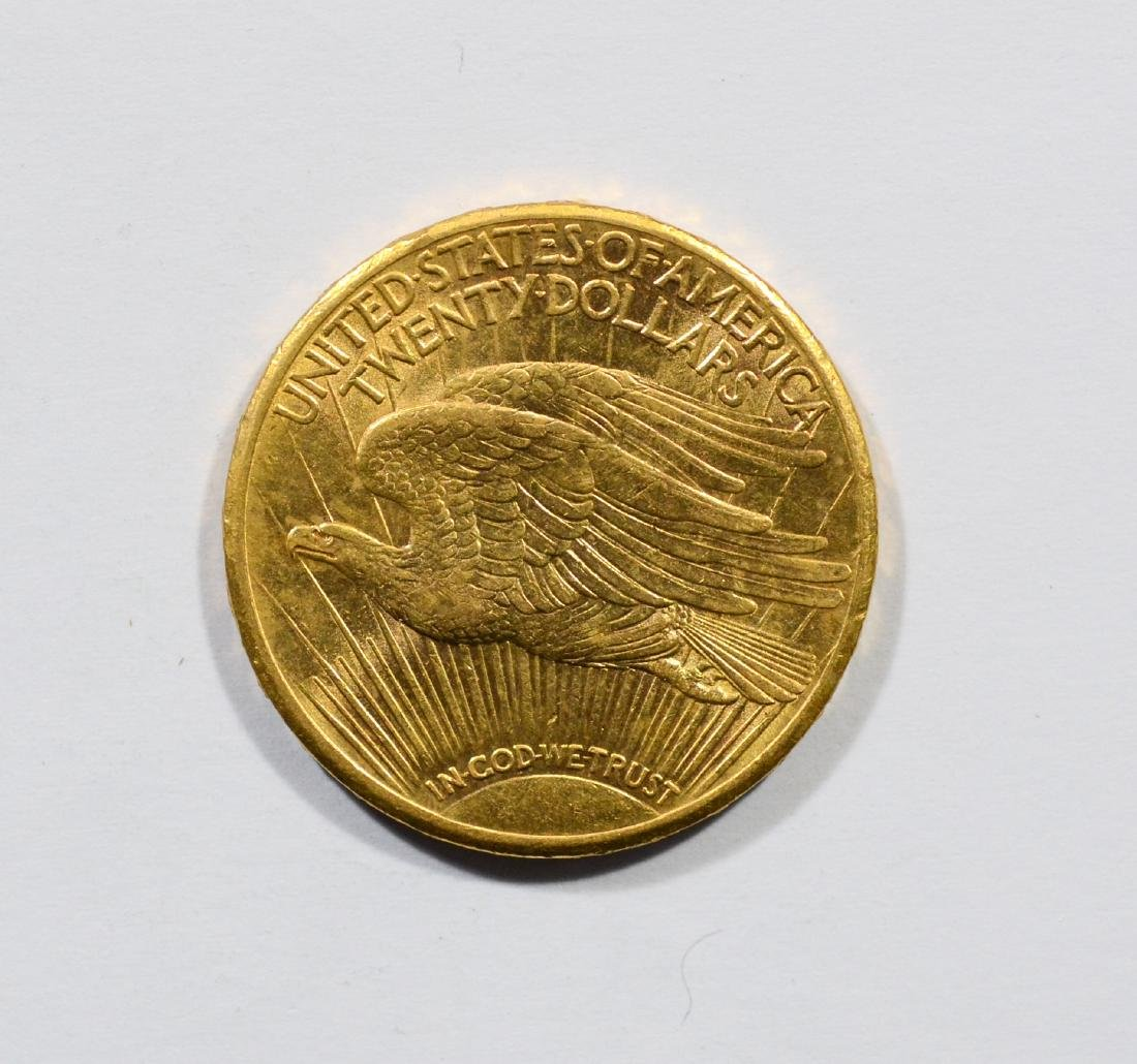 1910S $20 St Gaudens gold coin, AU - 2
