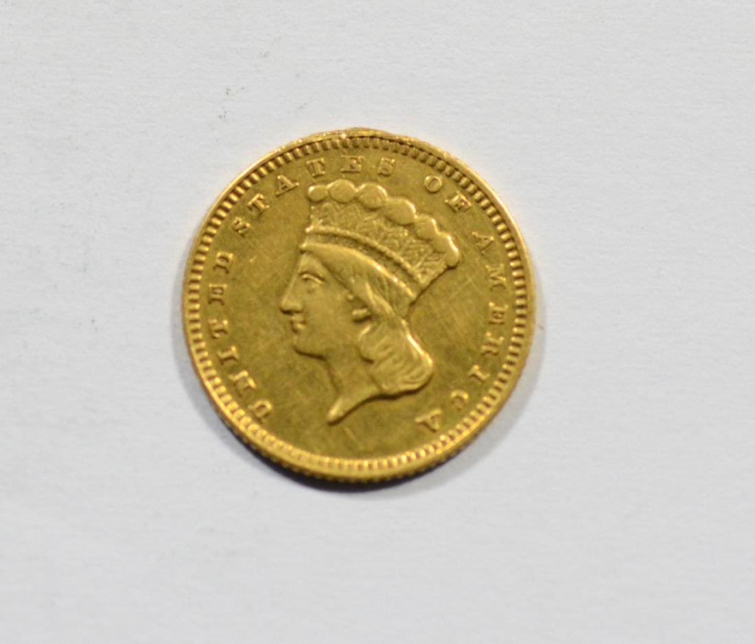 1873 $1 Liberty gold coin, VF