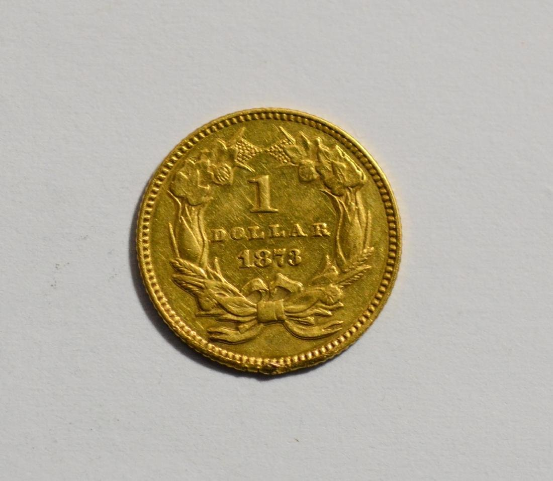 1873 $1 Liberty gold coin, VF - 2