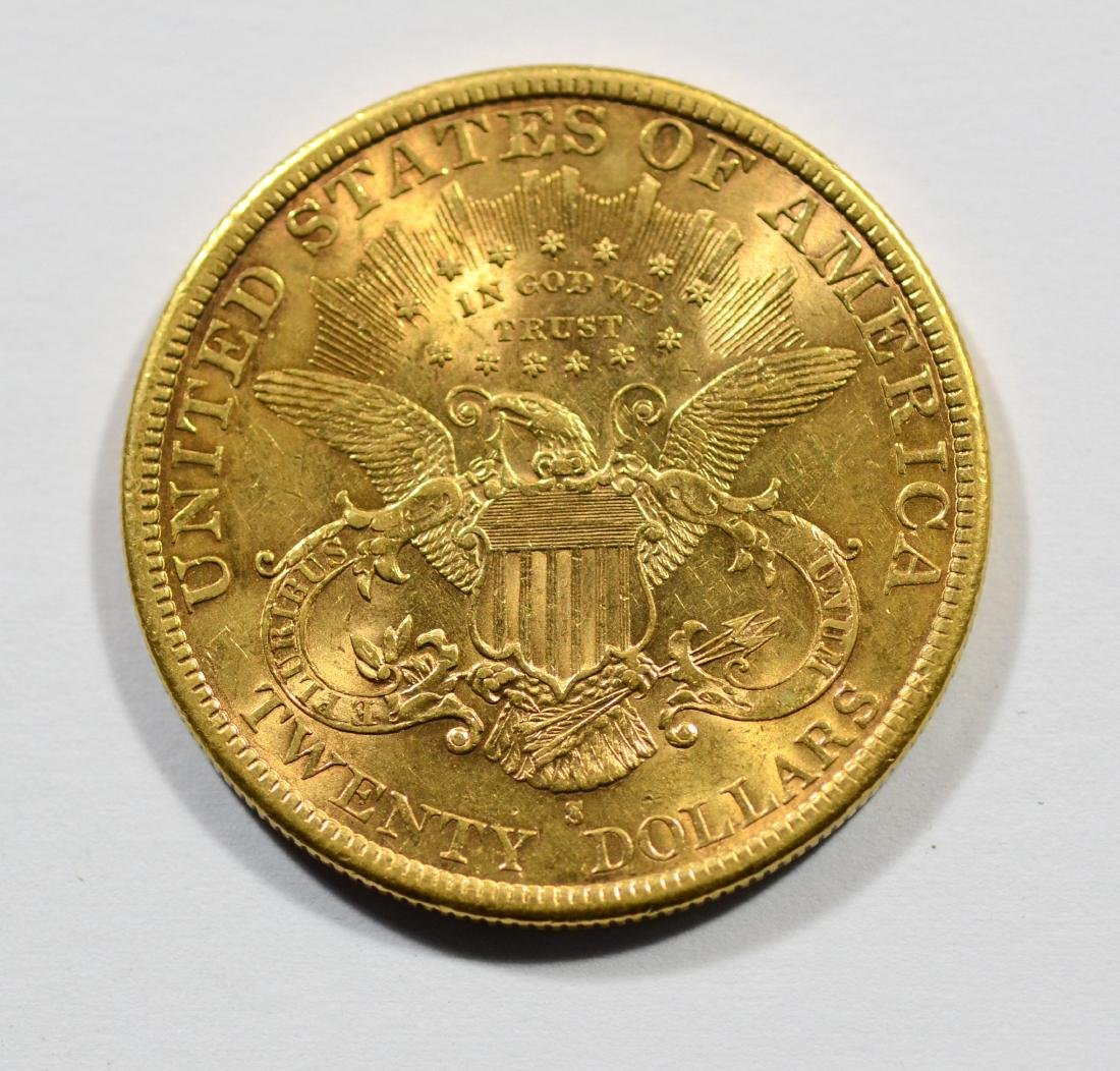 1896S $20 Liberty gold coin, EF - 2