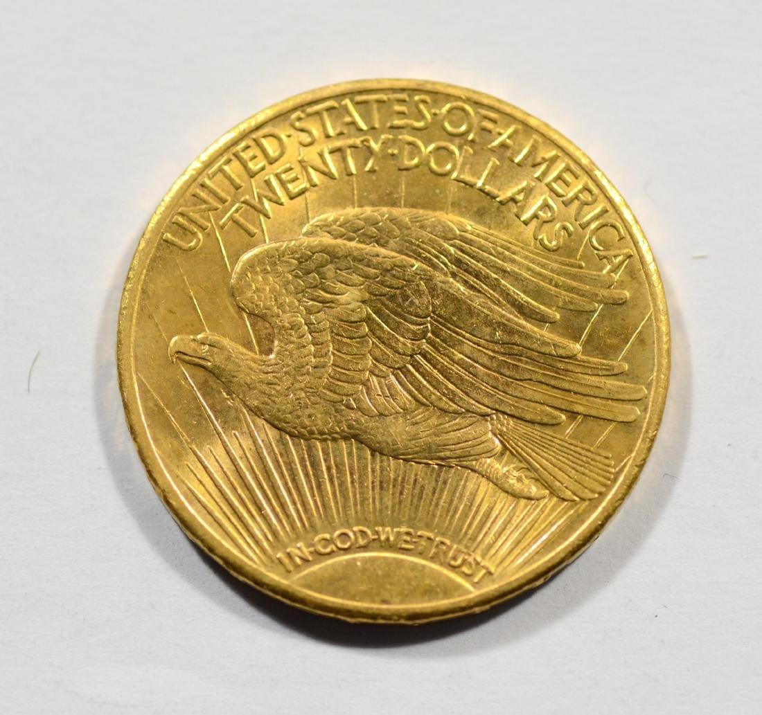 1924 $20 St Gaudens gold coin, AU - 2
