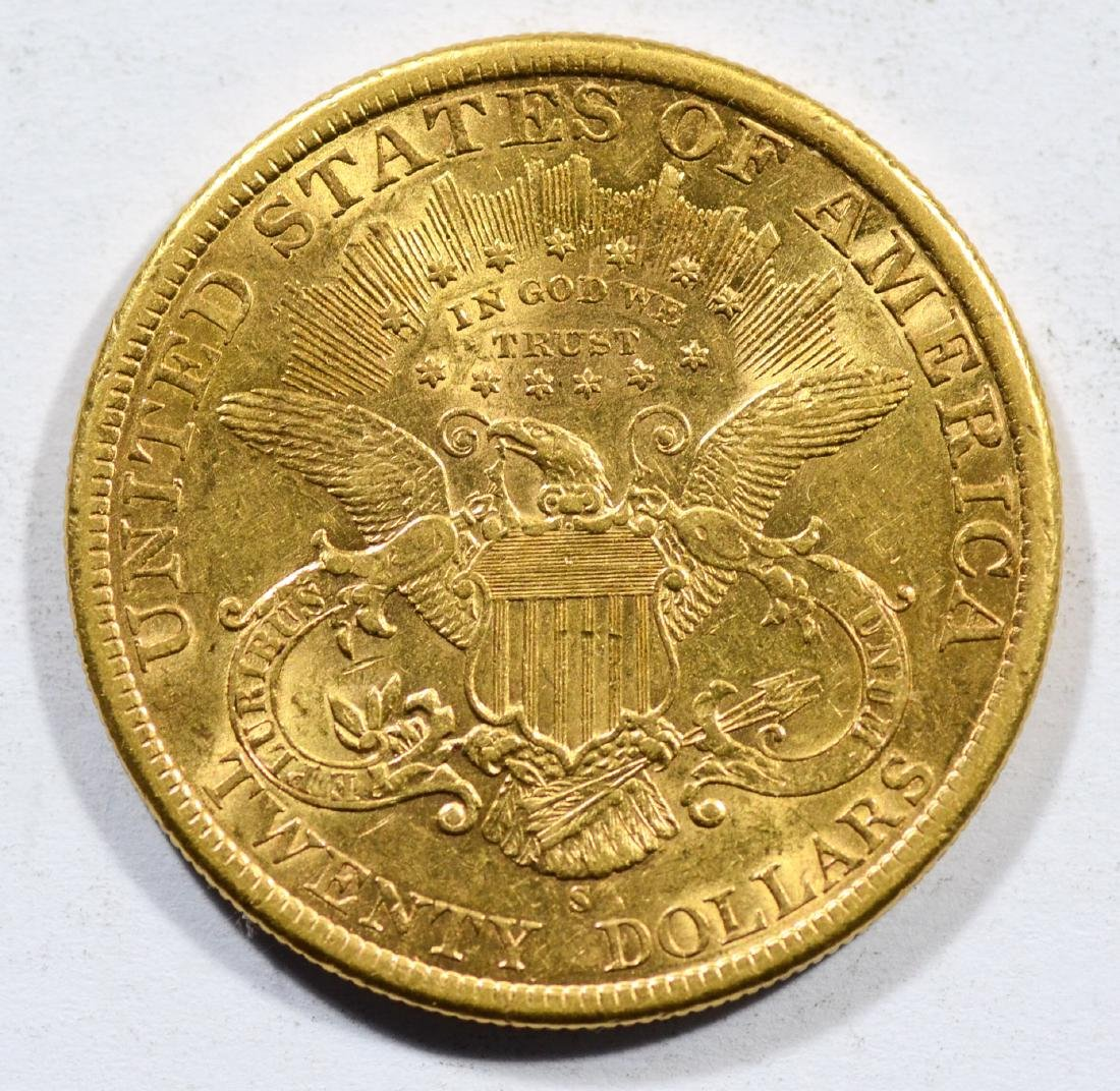 1898S $20 Liberty gold coin, EF - 2