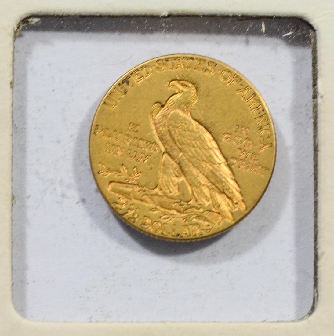 1912 $2 1/2 Indian gold coin, EF - 2