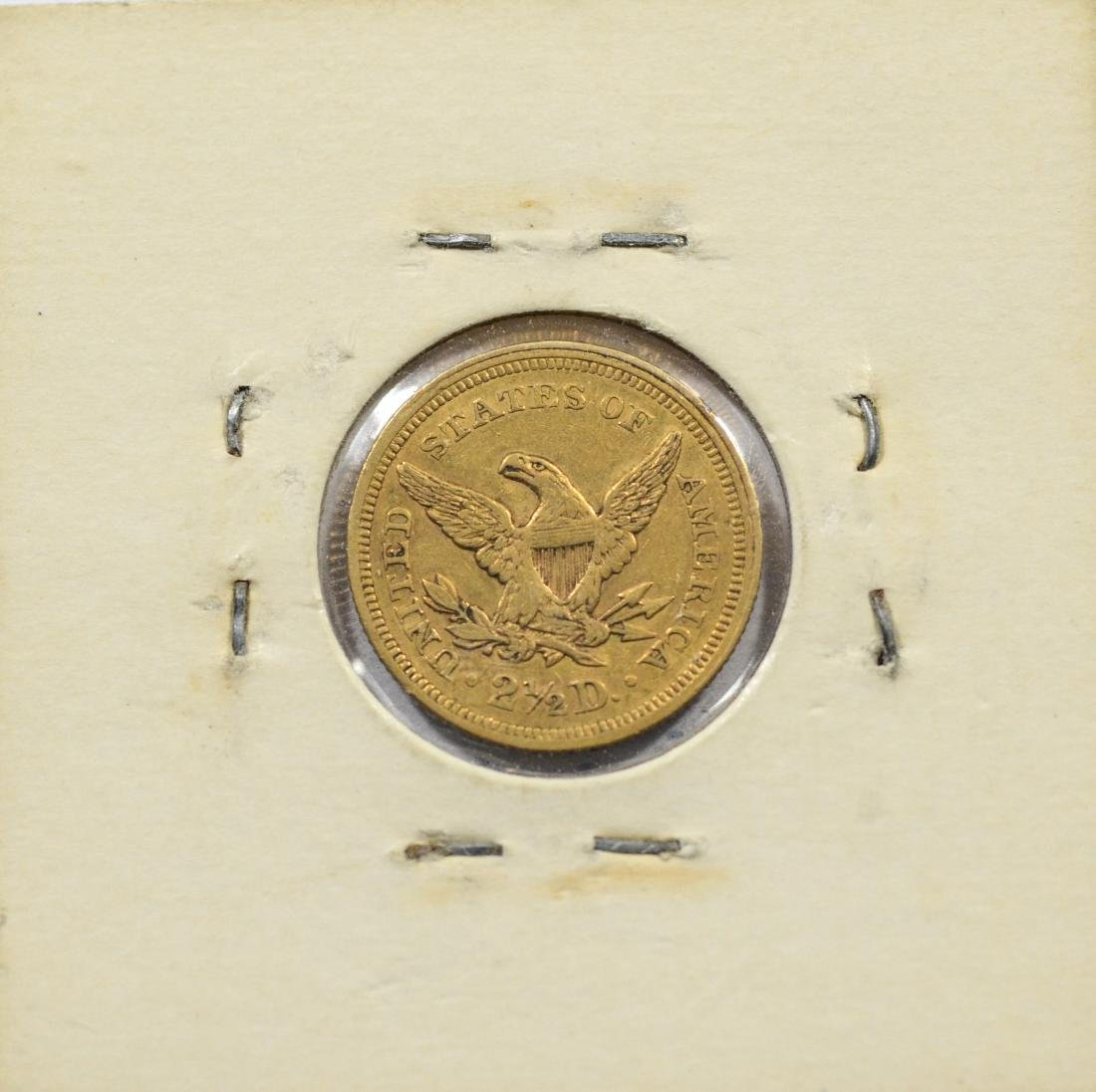 1853 $ 2 1/2 Liberty gold coin, VF - 2