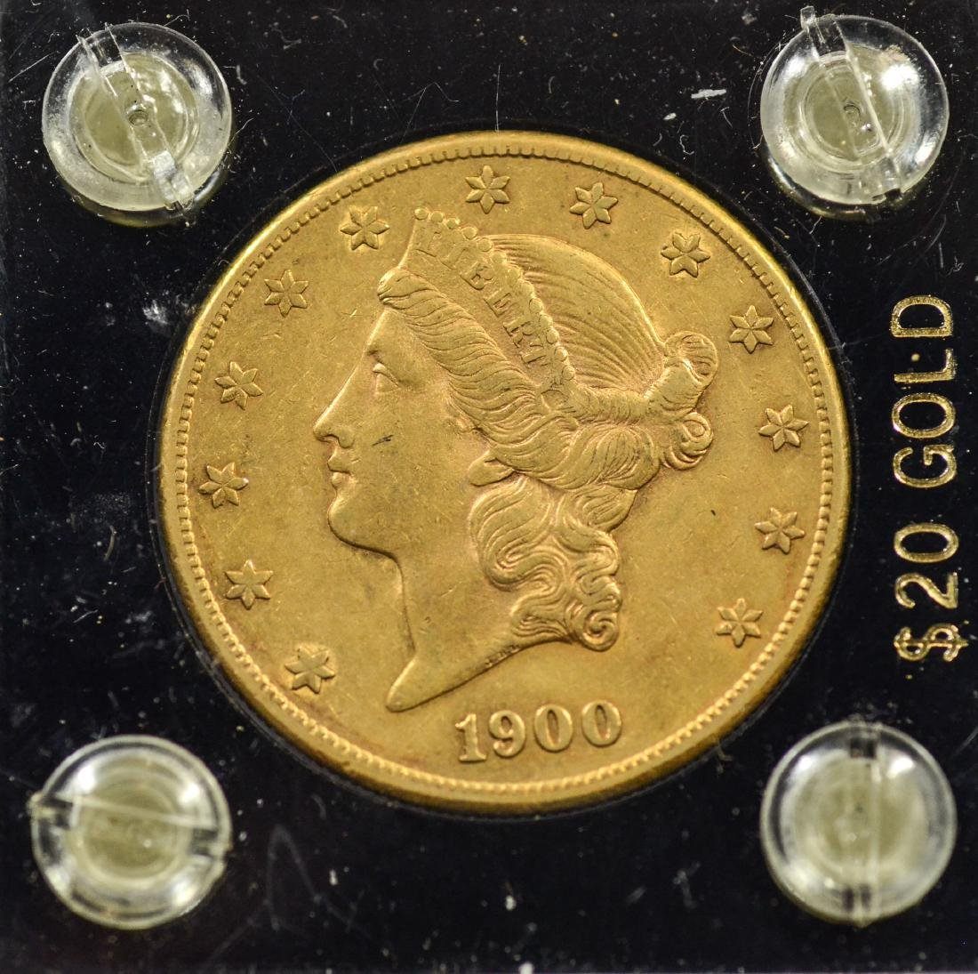 1900S $20 Liberty gold coin, EF