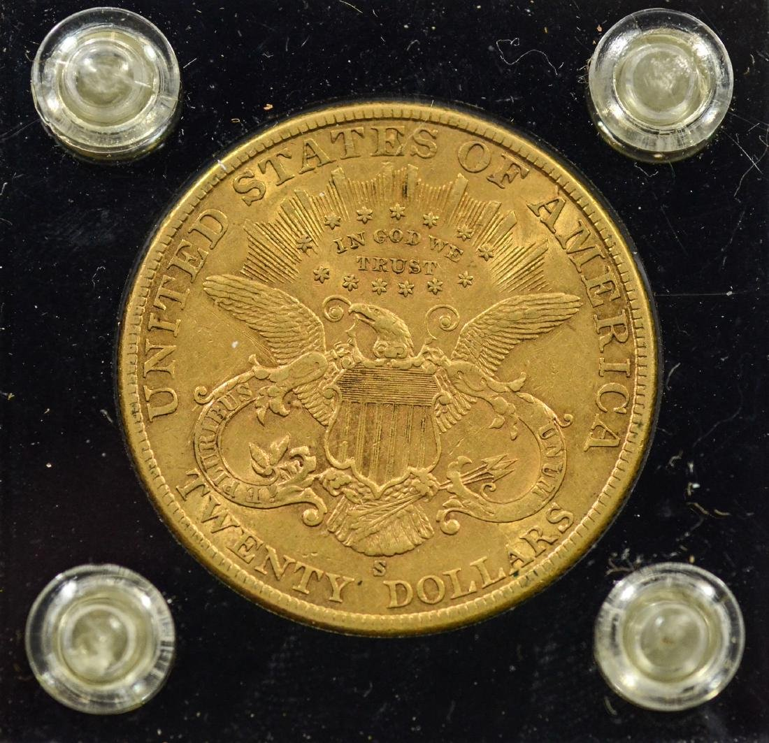 1900S $20 Liberty gold coin, EF - 2