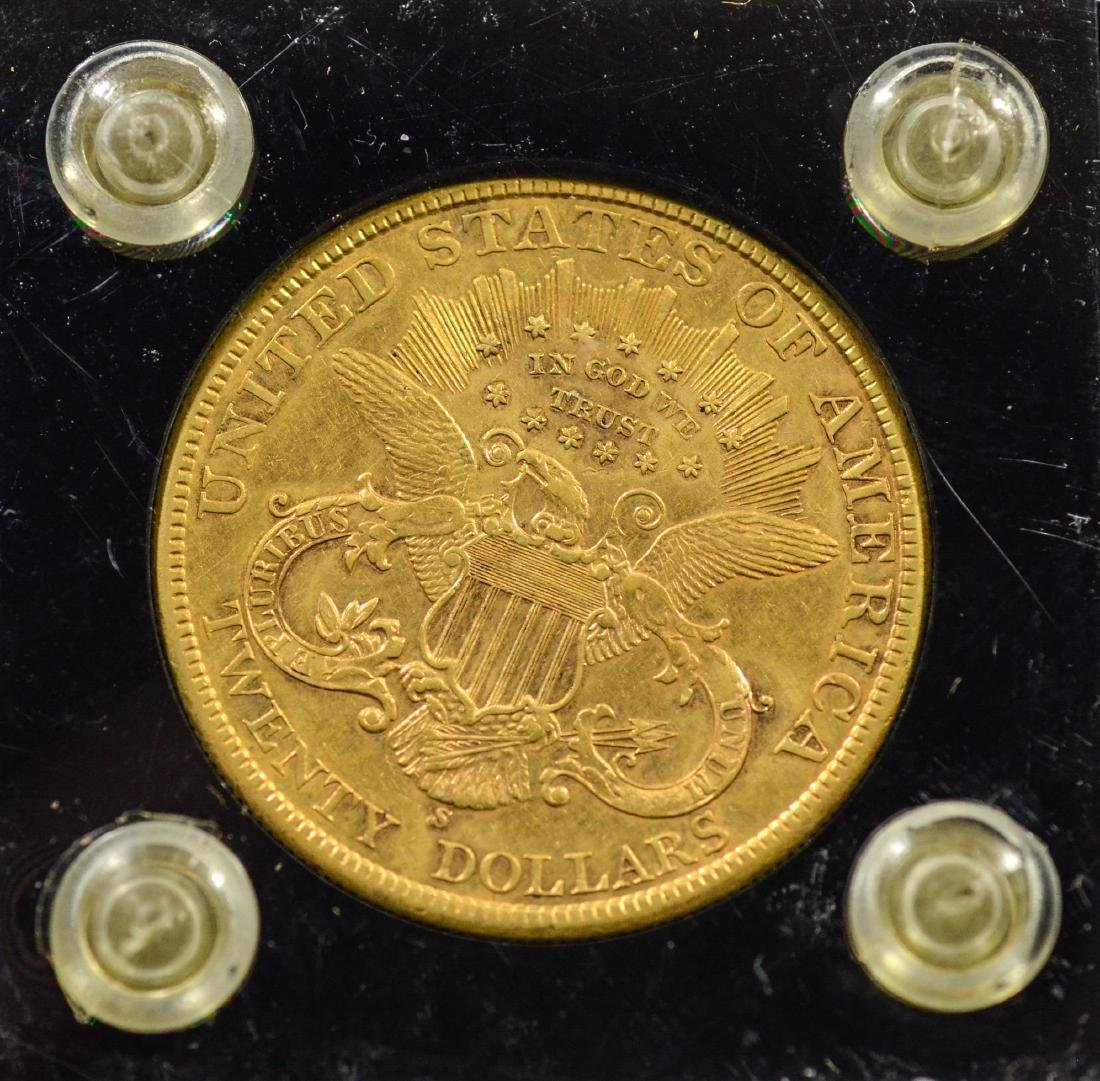 1898S $20 Liberty gold coin, EF+ - 2