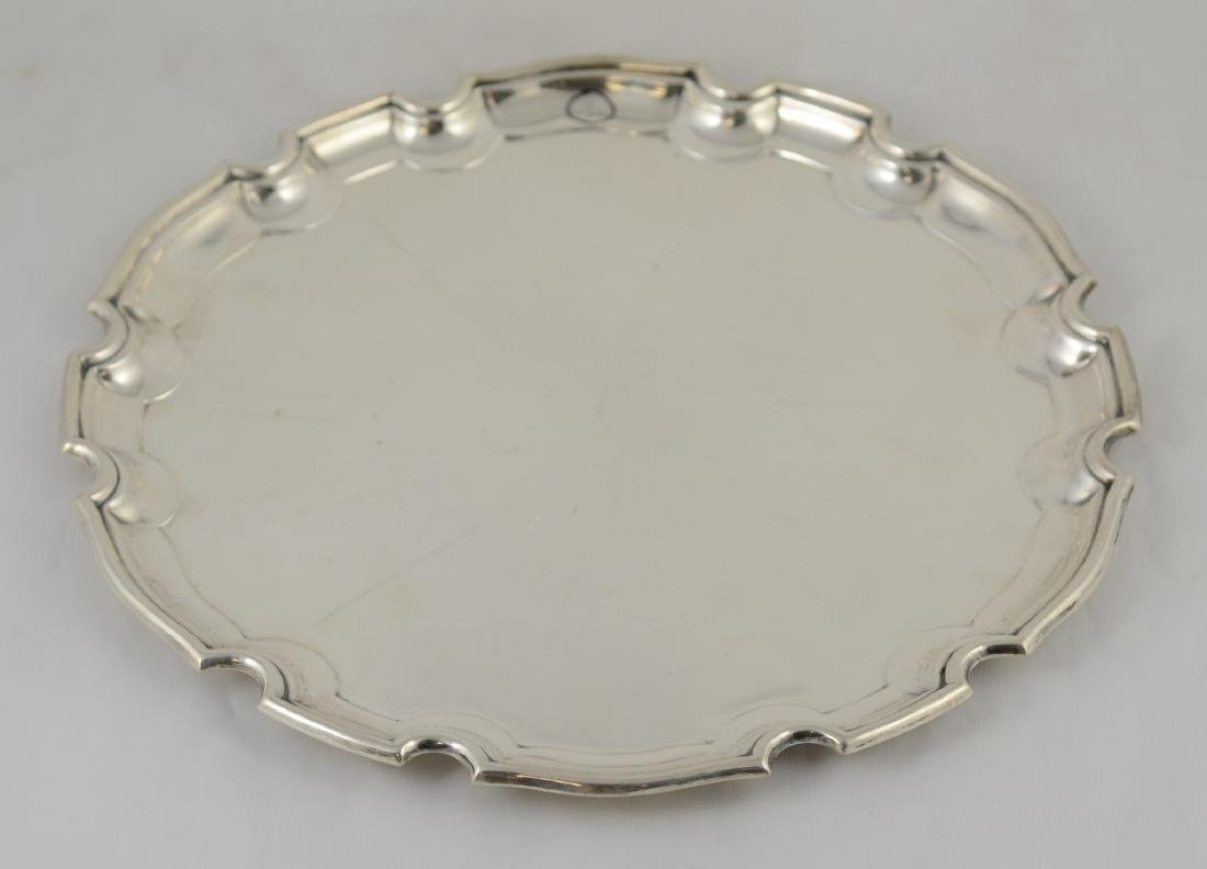 800 silver round scalloped tray