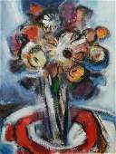 """G Ralph Smith  mixed media on paper, """"Bouquet"""""""