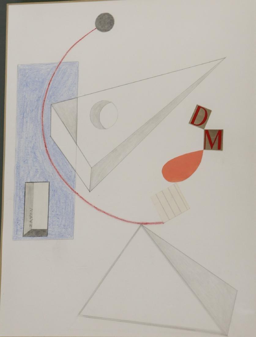 Seymour Zayon Collage & Graphite Construction