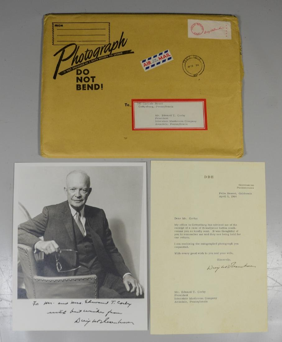 Dwight Eisenhower signed & inscribed photo
