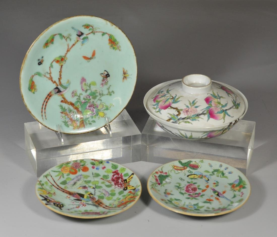 Four (4) pieces Chinese porcelain