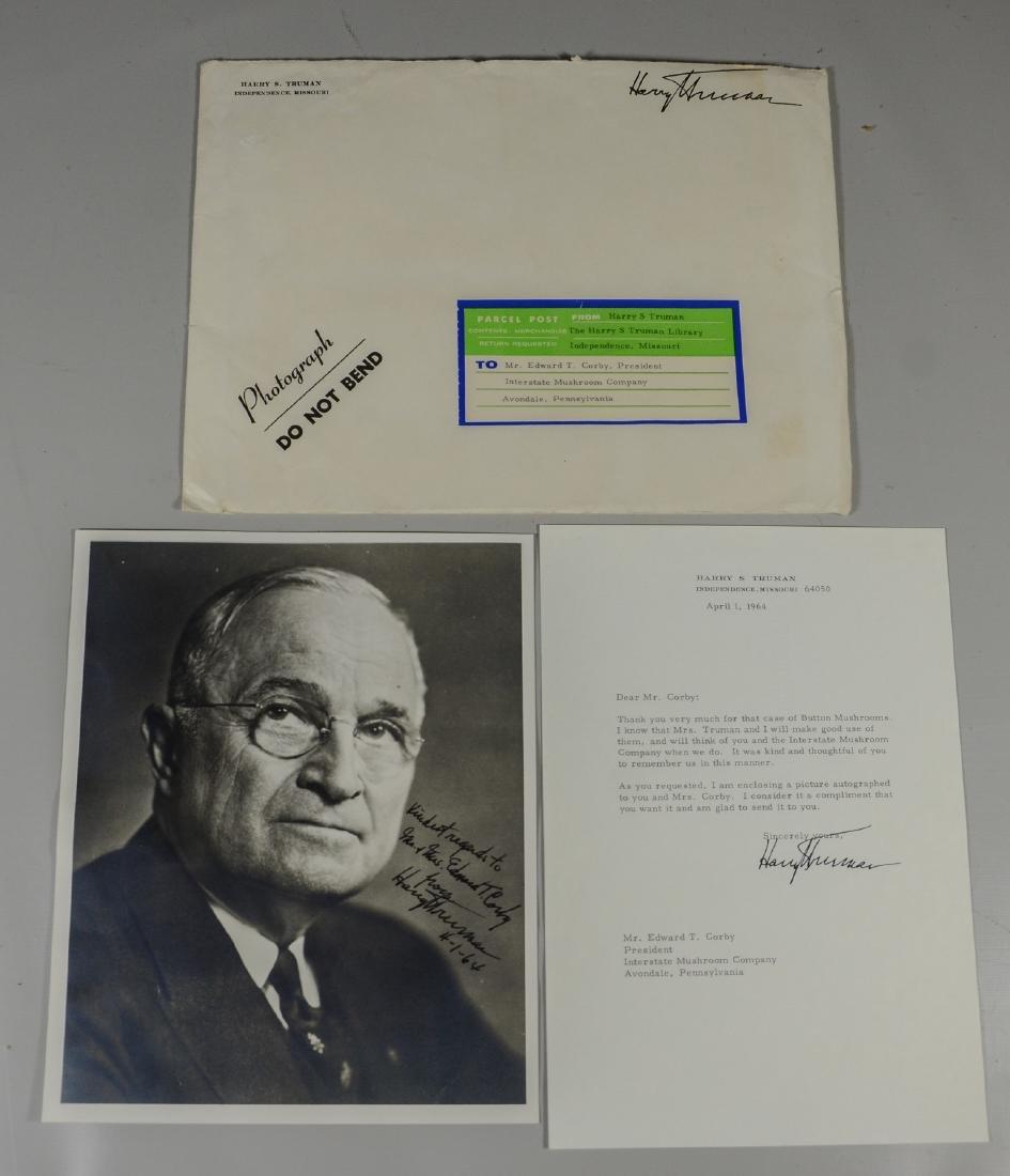 Harry Truman Signed & Inscribed Photo, Unframed