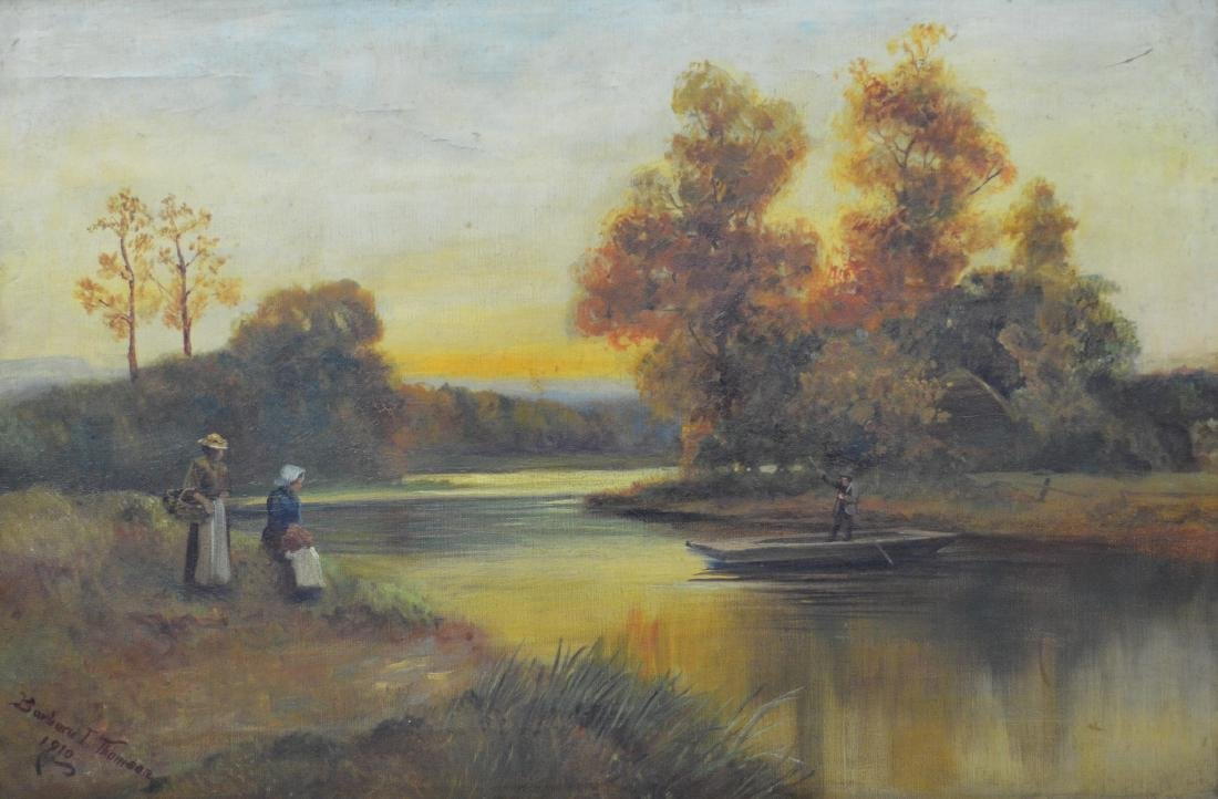 Barbara I Thomson, landscape painting with figures