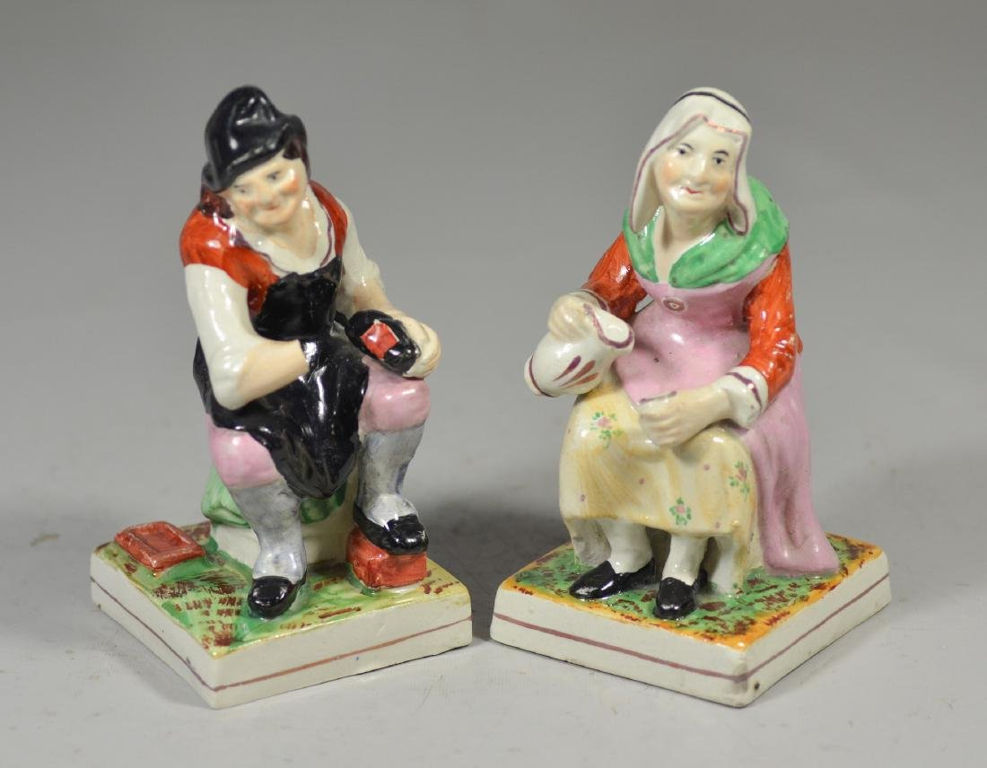Pair of Staffordshire Figures, Man and Woman
