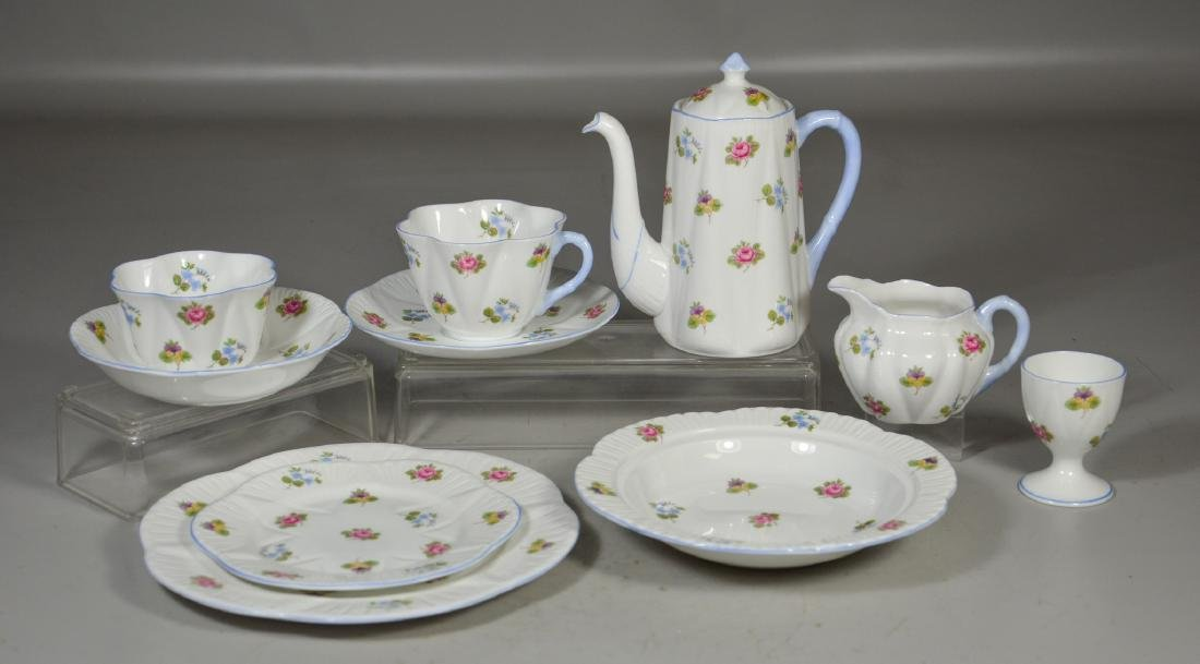Shelley Rose Pansy Forget-Me-Not Breakfast Set