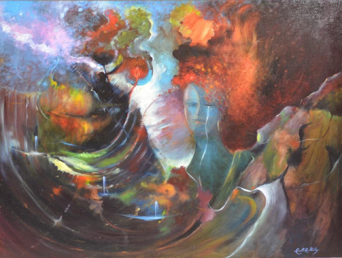 Russell Lee Finley surrealist oil painting