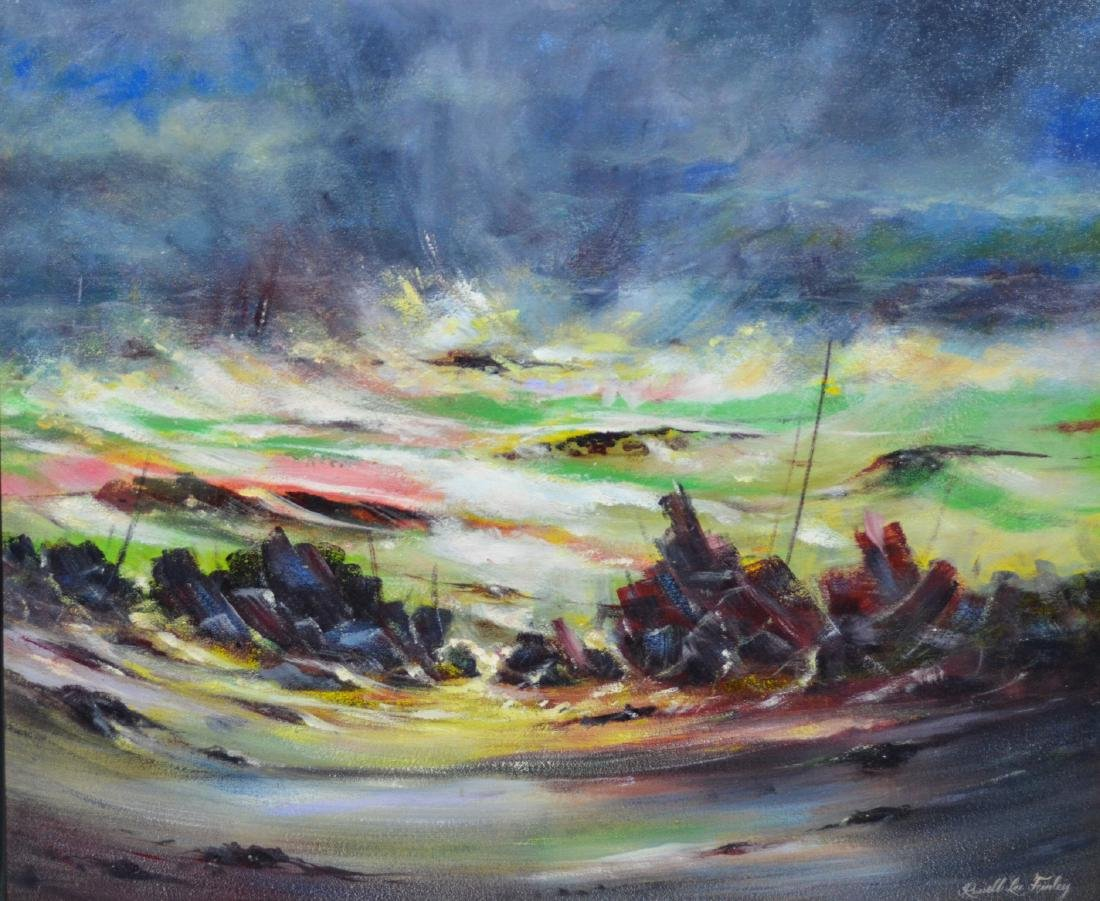 Russell Lee Finley abstract landscape painting