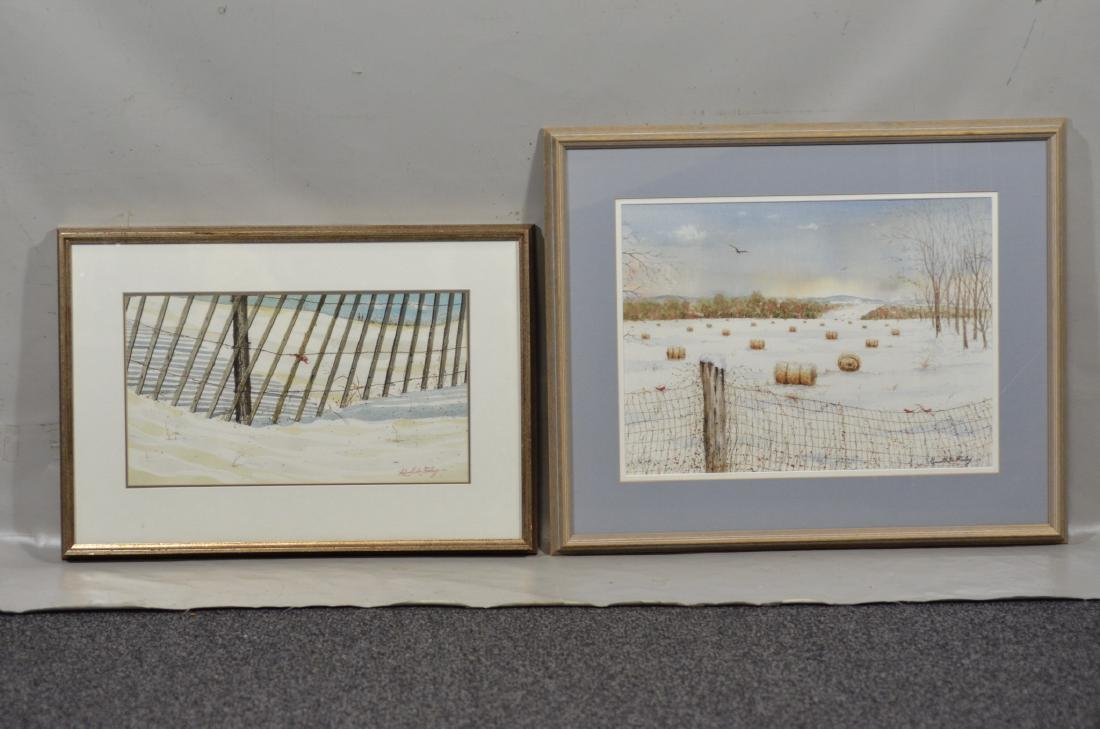 Russell Lee Finley (2) watercolor snowscapes