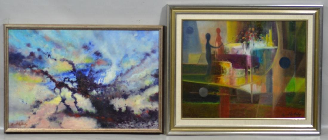 Russell Lee Finley (2) abstract paintings