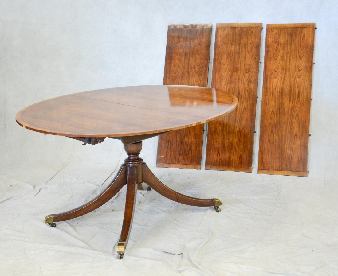 Baker Pedestal Oval Table