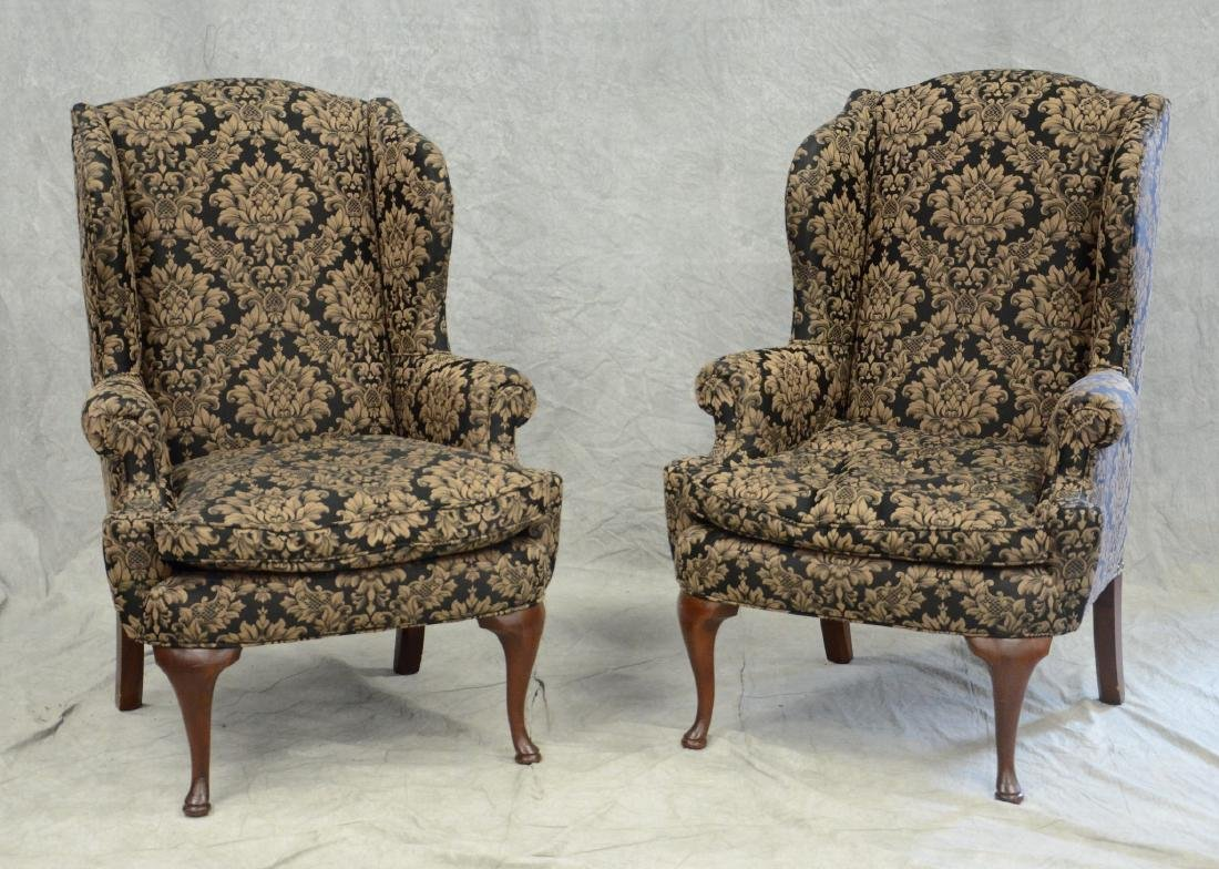 2 United Furniture Factory upholstered wing chairs
