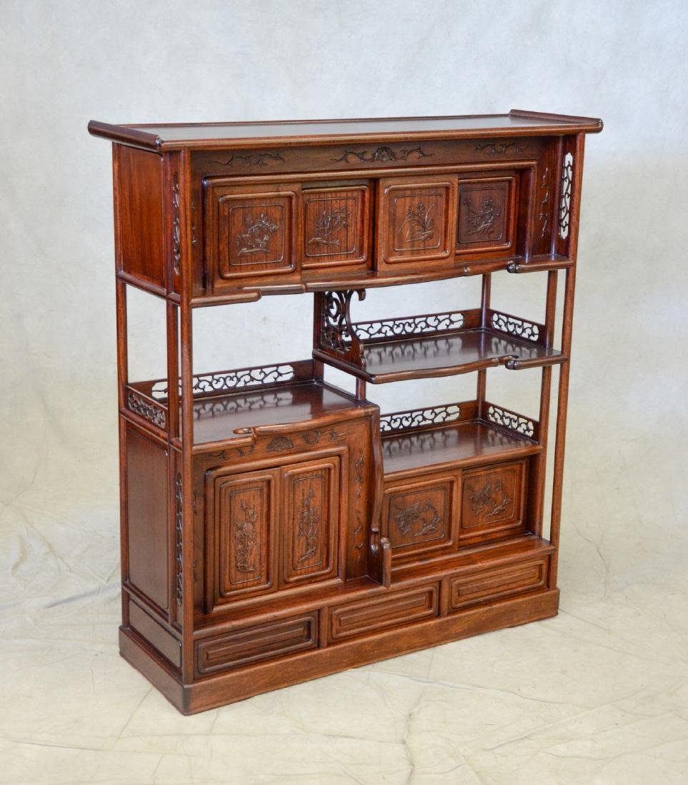Asian Style Carved Etagere