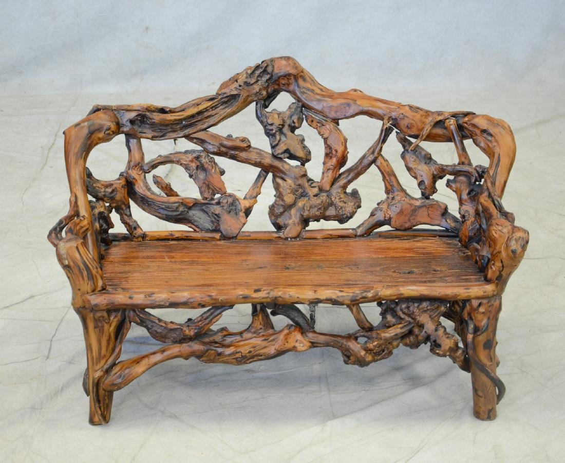 Gnarled Wood Child's Size Settee