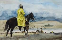 "Phil Clark Watercolor, ""Coming Storm"""