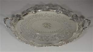 Thomas Bradbury  Sons Sheffield plated silver platter