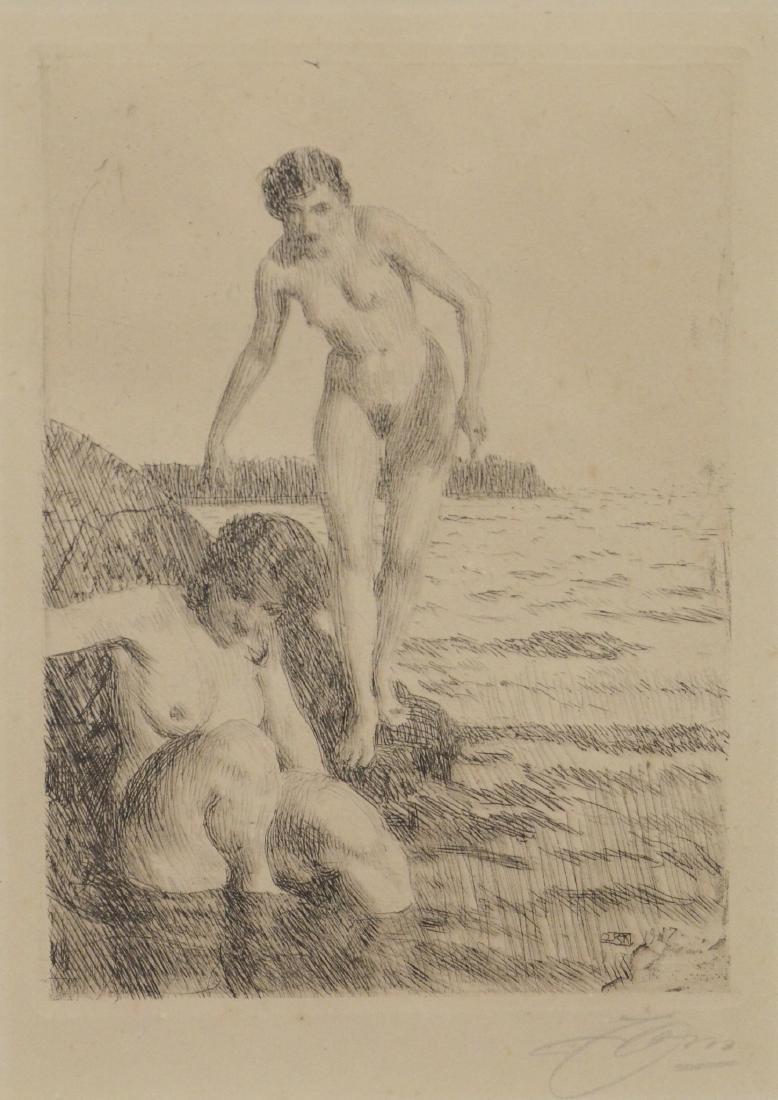 Anders Zorn (Swedish 1860-1920) Etching