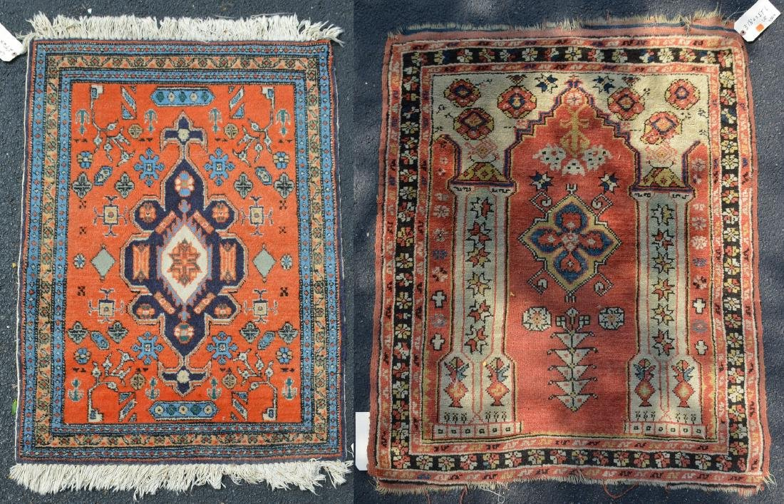 (2) Indo Persian Throw Rugs