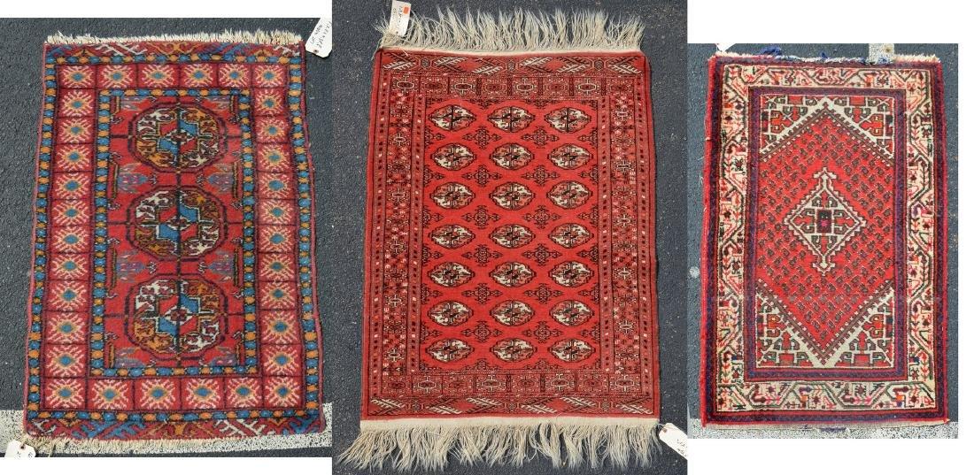 (3) Turkish/Paki Throw Rugs