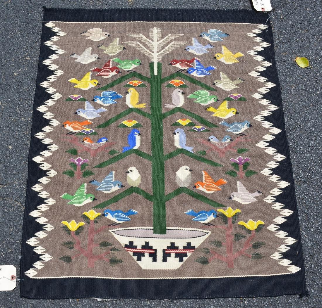 Native American Bird Tree Rug