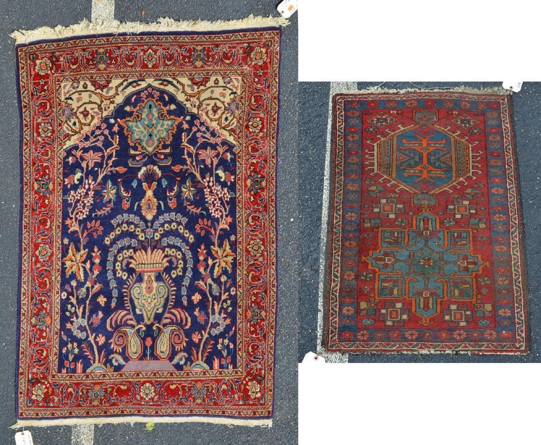 Indo Persian Throw Rug w/Turkish Mat
