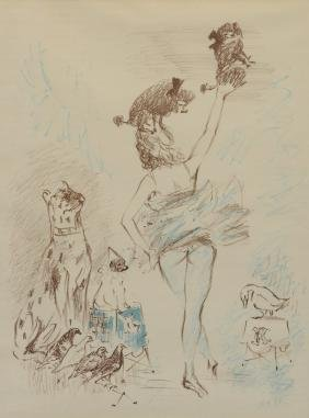 Marcel Vertes, Circus Performer With Dogs & Birds