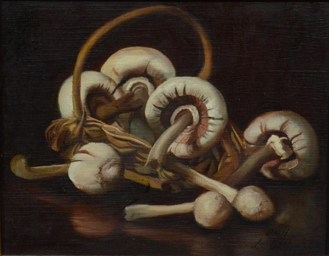 Paul Longenecker, Mushrooms, Oil on masonite