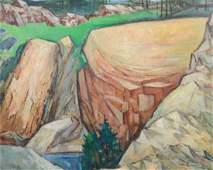 G Ralph Smith Oil on Board Landscape
